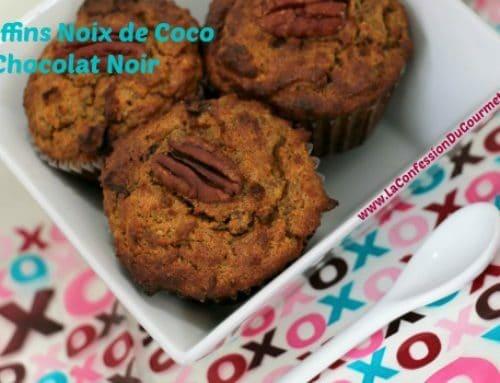 Muffins Noix de Coco et Chocolat Noir Sans Gluten