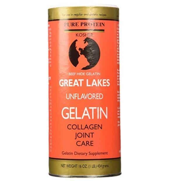 Poudre de collagène / gélatine pour smoothie santé paléo de Great Lakes.