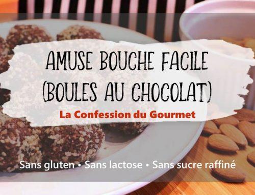 Amuse Bouche Facile (boules au chocolat)