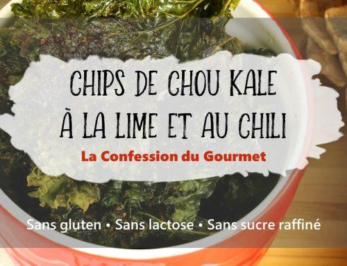 Chips de Chou Kale à la lime et au chili