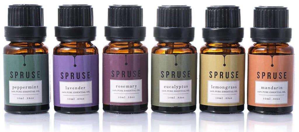 Collection de base de 6 huiles essentielles Spruse.