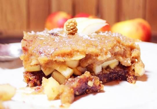 Tarte aux pommes et mûres blanches sans cuisson et sans pâte