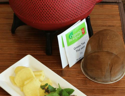 Thé à la Menthe avec Gingembre et Curcuma