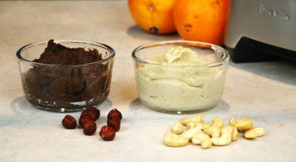 Nutella et beurre de cajous maison.