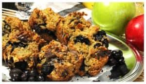 Recette de muffins aux bleuets sans noix.