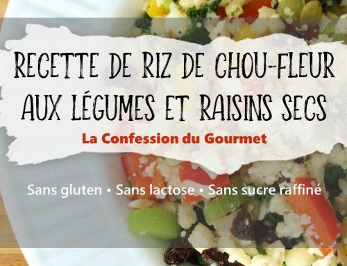 Recette de riz de chou-fleur aux légumes et raisins secs