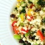 Recette de riz aux légumes et aux cajous.