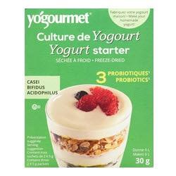 Boite verte de bactéries pour partir du yogourt avec probiotiques (lien affilié vers Amazon Canada)