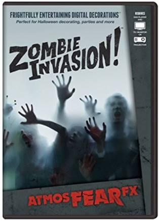 DVD de zombies pour effets hologramme 3d Halloween - idée déco halloween