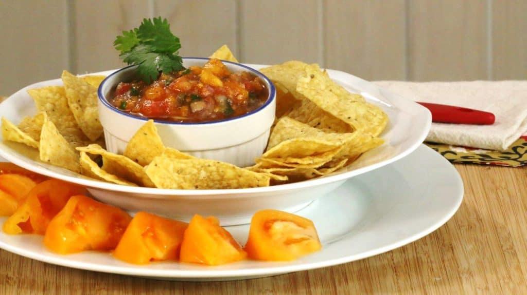Salsa maison aux 2 tomates rouges et jaunes de la Confession du Gourmet.
