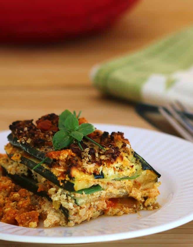 Lasagne épinards ricotta sans pâtes, recette paléo.