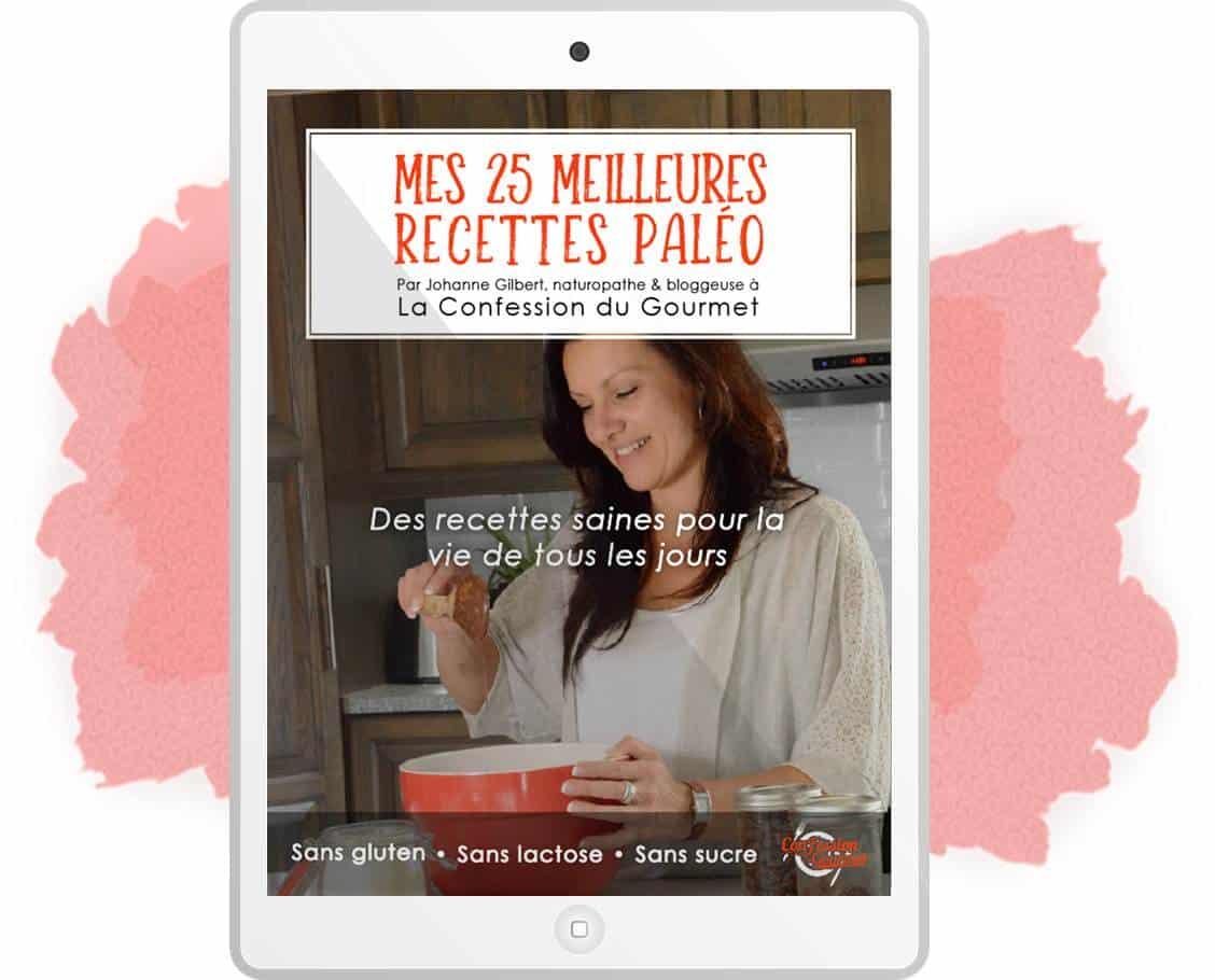 Couverture du livres Mes 25 meilleures recettes paléo
