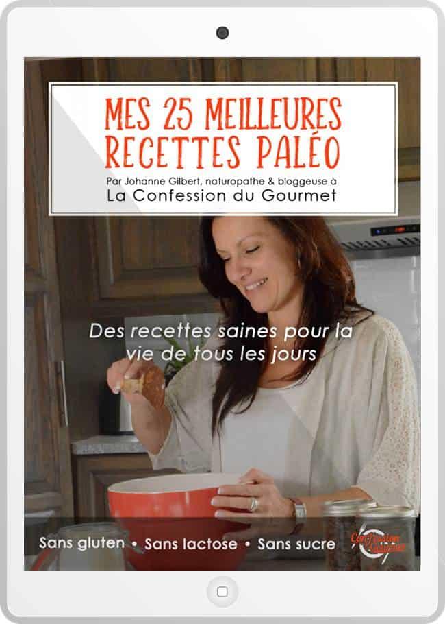 Couverture du livre de recettes Mes 25 meilleures recettes paléo