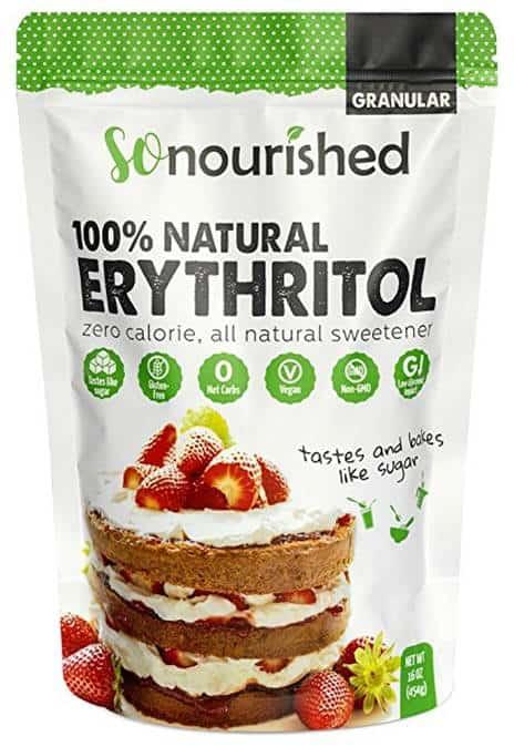 Sac de sucre d'alcool érythritol de la compagnie so nourished.