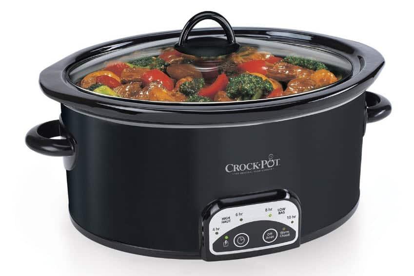 Mijoteuse Crock Pot digitale noir de 4 quarts avec couvercle sur Amazon