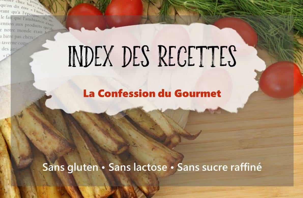 titre de la page : index des recettes