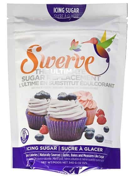 Sac de sucre en poudre fine Swerve, un sucre d'alcool obtenu à partir de la fermentation de fruits, naturel, l'érythritol