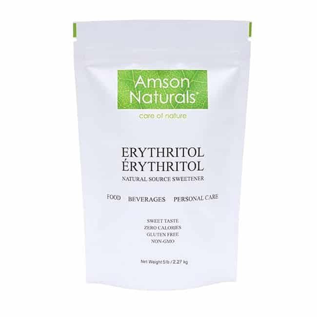 Sac de sucre d'alcool erythritol en format économique de 5 livres