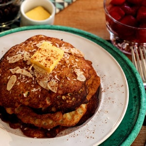 pancakes sans sucre aux amandes lien menant vers la recette