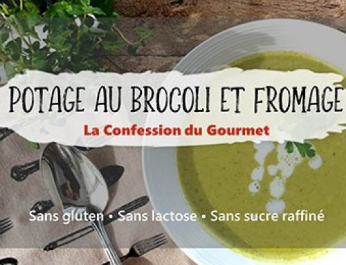 Potage au brocoli et fromage