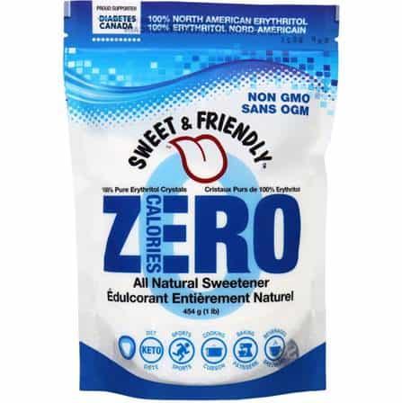 un sac de sucre d'alcool ou polyol qui s'appelle erythritol