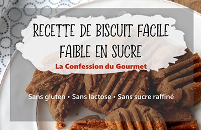 Page titre de biscuits faciles au beurre d'arachides, recette contenant un des aliments riches en fibres, le psyllium