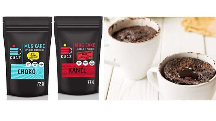 Sachet de mug cake de keto club cuisine