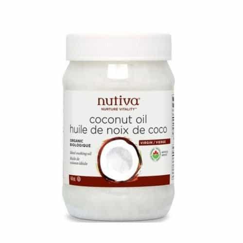 Pot d'huile de coco de la compagnie Nutiva disponible sur la boutique en ligne Well.ca