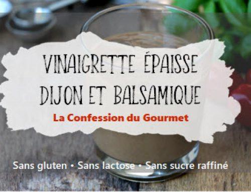 Vinaigrette épaisse Dijon et balsamique