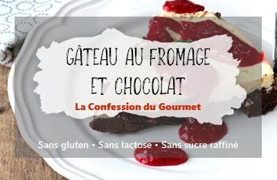 Titre de la recette : gâteau au fromage et chocolat
