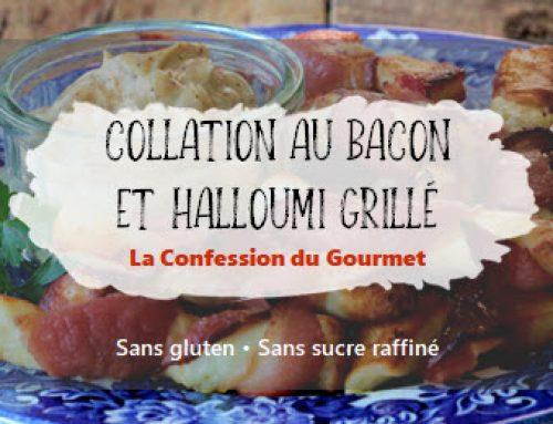 Collation au bacon et halloumi grillé