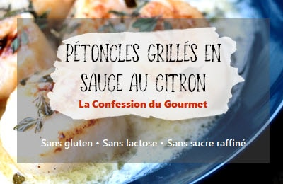 Pétoncles grillés en sauce au citron
