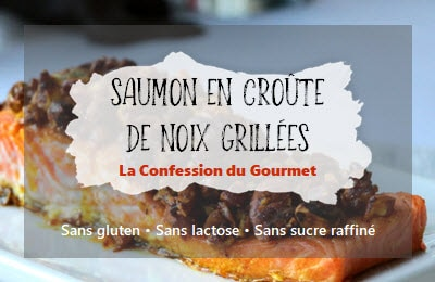 page titre du saumon en croûte de noix grillées