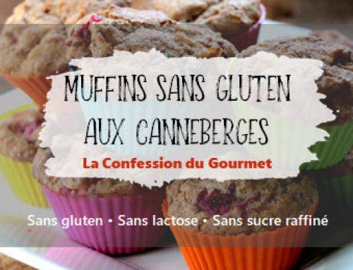 Muffins sans gluten aux canneberges