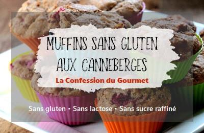 page titre de la recette de muffins sans gluten aux canneberges