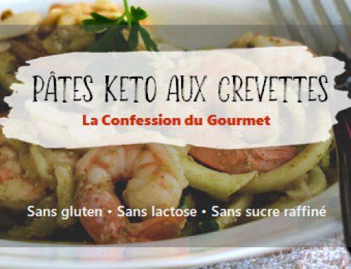 Pâtes keto aux crevettes