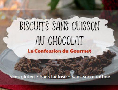 Biscuits sans cuisson au chocolat