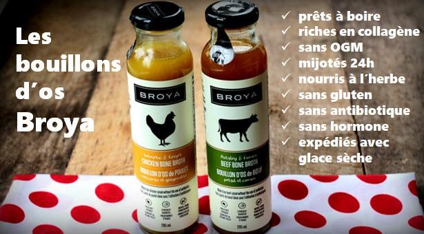 Bouillon d'os Broya disponibles en ligne (lien affilié)