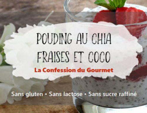 Pouding au chia fraises et coco