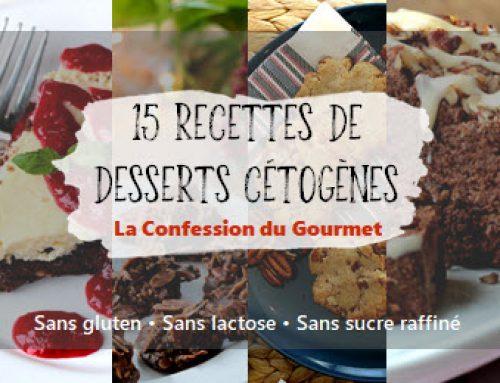 15 recettes de desserts cétogènes