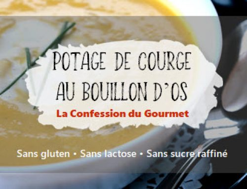 Potage de courge au bouillon d'os