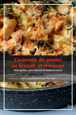 Une des recettes avec du poulet : la casserole de poulet au brocoli