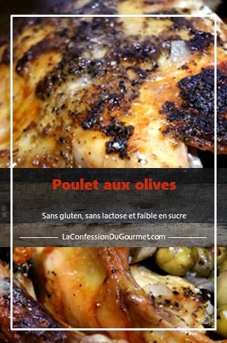 Vue de près d'un poulet entier grillé aux olives