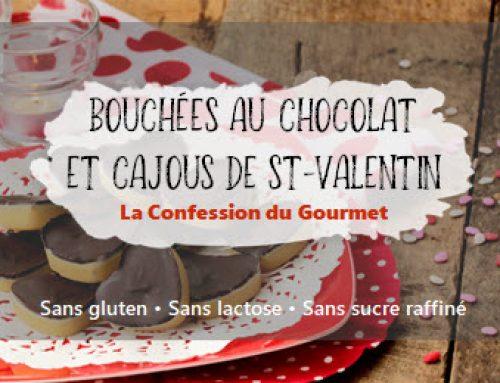 Bouchées au chocolat et cajous de St-Valentin