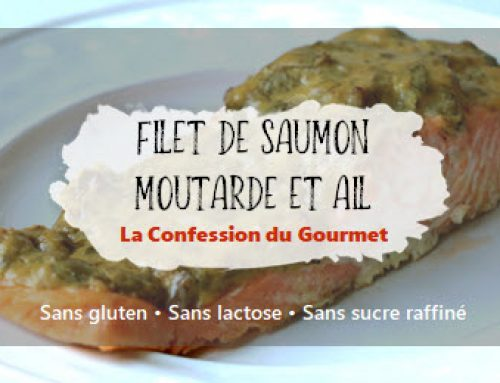 Filet de saumon moutarde et ail