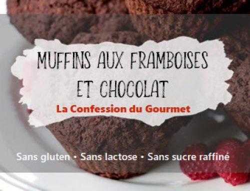 Muffins aux framboises et au chocolat