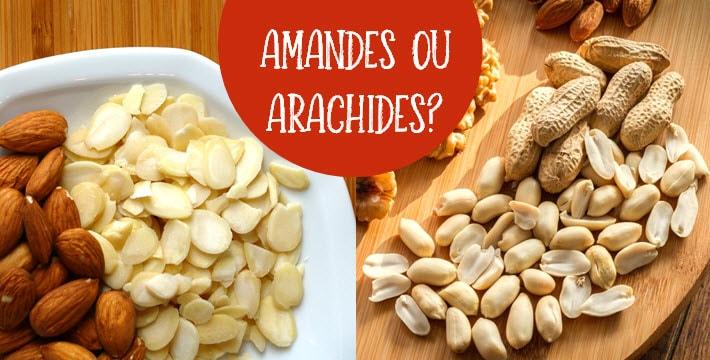Amandes et arachides avec titre amandes ou arachides?