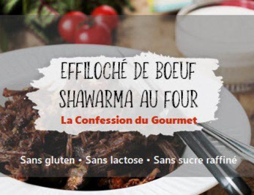 Effiloché de boeuf shawarma au four