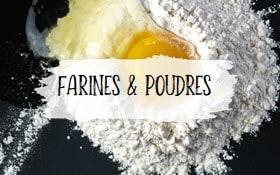 Catégorie farines et poudres, photo à cliquer