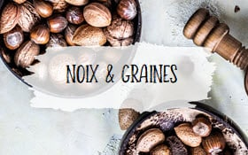 Catégorie noix et graines du tableau des conversions, photo à cliquer